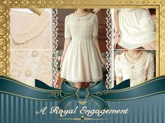 The most perfect dress for the most special occasion. Royal Engagement Lace Embroidered Bib Dress in Cream $51.99