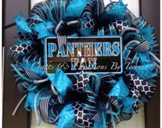 panthers wreath – Etsy