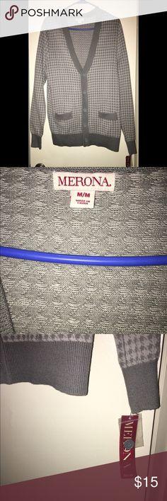 Men's Merona Cardigan BRAND NEW BRAND  Men's Merona cardigan sweater. $$ for my son and he never wore it.  Size M. Merona Sweaters Cardigan