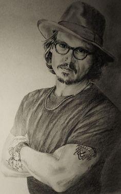 Johnny Depp by vividec {from Italy} ~ pencil portrait