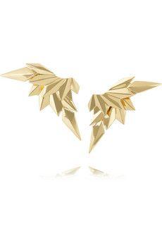 Maria Black Fine Jewelry 18-karat gold wing earrings | NET-A-PORTER