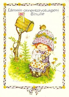 a postcard from Finland, received in the year 1979, made by AnneLiese