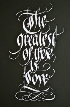 calligraphy / ReggieEzell.com Pic of the Week-2012 #calligraphy #typostrate #typography