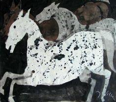 Arab horses - Józef Wilkoń - Polish illustrator of Children's books