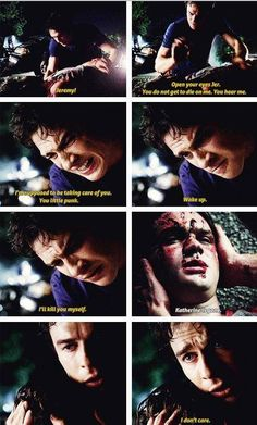 The Vampire Diaries - this scene was so sweet! Totally didn't expect that from Damon lol