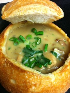 Chicken and Mushroom Soup with Spinach
