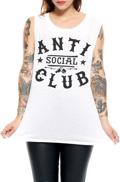 Social Decay T-shirt Anti Social Muscle T-shirt in White - Karmaloop.com