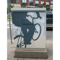 Electric box for Public Art Somerville - by James Weinberg.