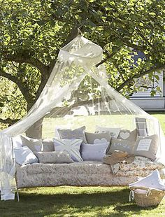 mosquito netting over a hammock...imagine the naps that could take place.