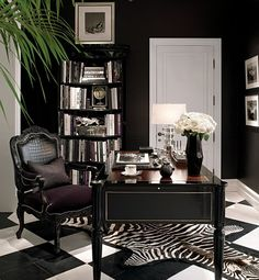 A Brook Street desk and an Indian Cove Lodge fauteuil. (Ralph Lauren Beaux Arts mansion).
