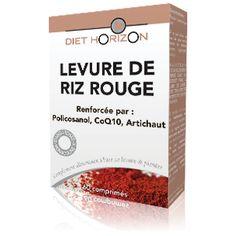 Levure de Riz Rouge: Reconnue pour sa teneur en monacoline K.    La Levure de riz rouge de Diet Horizon est renforcée par du policosanol, du coenzyme Q10, de la vitamine E et de l'artichaut. #dietetique #diet #sante #dietetic #diethorizon #naturaldistribution