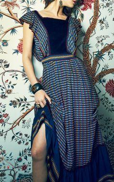 Ashanti Print Long Alicia Dress