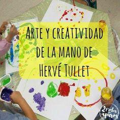Os contamos nuestra experiencia llevando a cabo un taller de creatividad de Hervé Tullet en clase, donde experimentamos con formas y colores de forma libre.