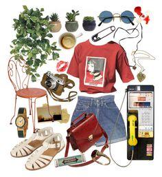 """No Small Talk Pls"" by fleetwoodmec ❤ liked on Polyvore featuring Levi's, Baccarat, Prada, Tim Holtz, Verde Rocks, Topshop, Gucci, Miss Bibi, Fermob and vintage"