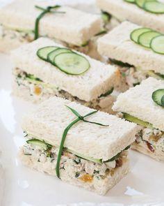 Herbed Chicken Salad Tea Sandwiches - Southern Lady Magazine
