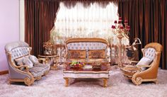 fabric sofa with coffee table Luxury Home Furniture, Bed Furniture, Furniture Design, Settee Sofa, Armchair, Fabric Sofa, Chesterfield, Luxury Living, Sofa Set