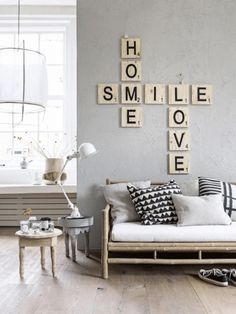 Letras de scrable para decorar