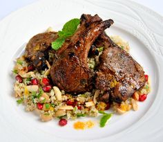 Scrumptious South Africa: Moroccan-Spiced Lamb Chops with Citrus Couscous Salad. My recipe for Woolworths, sponsors of #MasterChefSA