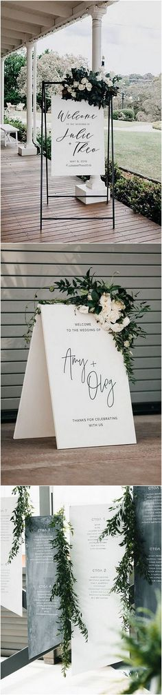 modern simple wedding welcome signs