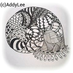 Zentangle5 snail