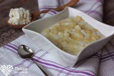 Krémová tvarohovo-ryžová kaša s vanilkou a mandľami Brunch, Health Fitness, Tasty, Breakfast, Healthy, Food, Morning Coffee, Eten, Health And Fitness