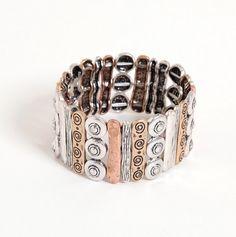 multi-metal bracelet