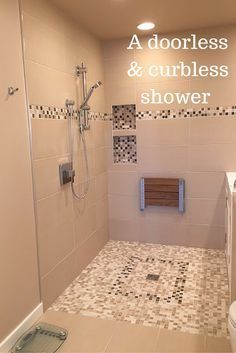 96 Most Popular Walk In Shower Ideas Modern Bathroom Design Ideas with Walk In Shower Ada Bathroom, Handicap Bathroom, Bathroom Renos, Bathroom Renovations, Bathroom Faucets, Modern Bathroom, Bathroom Ideas, Bathroom Storage, Bathroom Mirrors