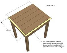 Nesting side tables with cute cottage charm for your living room! DIY plans to build these nesting end tables inspired by Pottery Barn Pratt Nesting Side Tables. Large Table, Small Tables, Side Tables, Sand Projects, Diy Projects, End Table Plans, Wood Nesting Tables, Base Moulding, Wood Coasters