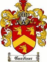 Gardiner Coat of Arms / Gardiner Family Crest