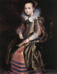 Vos, Cornelis de Elisabeth (or Cornelia) Vekemans as a Young Girl, c1625