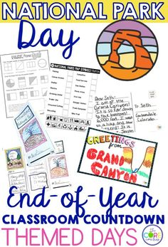 End of Year Classroom Countdown Themed Days.  Survive the last 10 days of school with these all inclusive lesson plans.