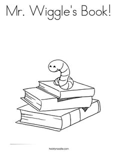 Mr Wiggle's Book Worksheet - Twisty Noodle | Download | Coloring ...
