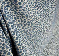 M9818 Delft Chenille Animal Print Blue Upholstery Fabric | Crafts, Fabric | eBay!