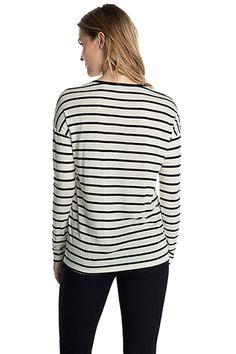 Esprit / Ringel-Shirt mit Seide