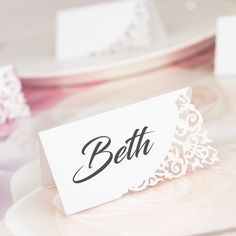 Divine Name Place Cards Name Place Cards, Thank You Gifts, Big Day, Wedding Table, Compliments, How To Memorize Things, Pride, Reception, White Gold