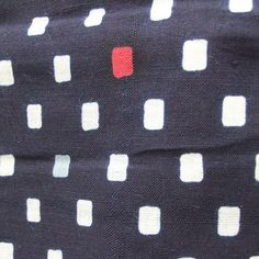 ☆ New Arrival☆ '#Spacing #Intruder' #womens #vintage #indigo #shaped #resist #dyeing #cotton #Japanese #yukata #kimono with #white and #red #cubic #design from #FujiKimono http://http://www.fujikimono.co.uk/fabric-japanese/spacing-intruder.html