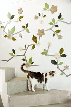 Des fleurs murales / Wall flowers