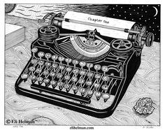 Write Time by Eli Helman, 8x10, Micron pen ink on paper