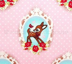Retro Deer in Pink - Extra Wide Dutch design fabric