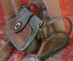 Handmade leather crossbody bag. Shoulder bag. by TheSacredWays