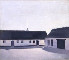 Vilhelm Hammershøi (1864-1916). The David Collection - Copenhagen, Denmark. #farm #painting #Danish