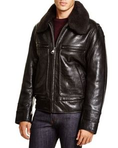 Marc New York Carmine Aviator Leather Bomber Jacket | Bloomingdale's