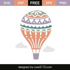 *** FREE SVG CUT FILE for Cricut, Silhouette and more *** Air balloon