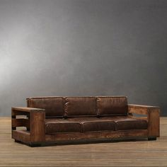Vintage Sofa Antique Victorian Sofa Yellow Velvet By . Vintage Green Vinyl Sofa W . Pallet Patio Furniture, Loft Furniture, Reclaimed Wood Furniture, Rustic Furniture, Furniture Ideas, Pallet Wood, Furniture Storage, Furniture Design, Rustic Couch