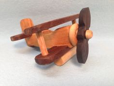 This listing is for 1 Only Bare Wood Mini Wooden Airplane # 1506  This All Natural Wooden Toy Airplane Bi Plane is designed & handcrafted