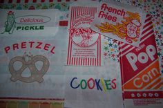 Popcorn & Peanut Bags Perfect For Movie Night- Circus or Carnival And Baseball Parties 60 Bags 30 of Each by shabbygirl2 on Etsy