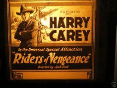 1919 Magic Lantern Slide Riders of Vengeance Silent Movie Harry Carey   eBay