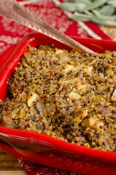 Slimming Eats - Delicious Low Syn Sausage Sage Onion Quinoa Stuffing - Gluten Free, Dairy Free, Slimming World and Weight Watchers friendly Slimming Eats, Slimming World Recipes, Sausage Sage Stuffing, Roast Dinner, Healthy Sides, Weight Watchers Meals, Sauce Recipes, Gluten Free Recipes, Quinoa