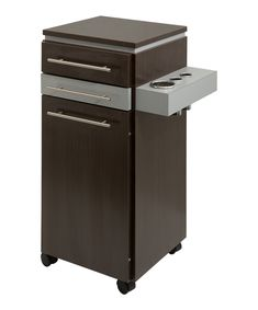 MILO SIDE STATION Available in all black or white color with option of rolling wheels. Fits perfectly beside a full length mirror. Salon Furniture, Furniture Outlet, Large Storage Cabinets, Styling Stations, Salon Interior Design, Changing Room, Salon Style, Adjustable Shelving, Filing Cabinet