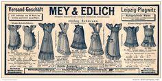 Original-Werbung/Inserat/ Anzeige 1909 - MEY & EDLICH MODE LEIPZIG-PLAGWITZ - ca. 110 X 240 mm